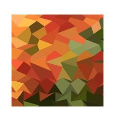 Deep saffron orange abstract low polygon vector