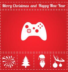 gamepad icon vector image