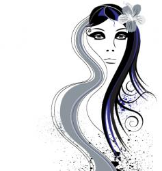 hair abstract vector image