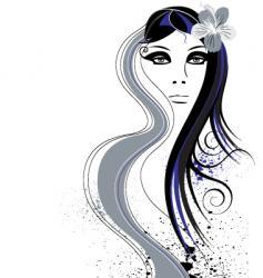 Hair abstract vector