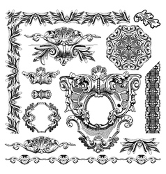 hand draw vintage sketch ornamental design element vector image vector image