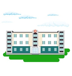 Hospital building in flat style Outdoor facade vector image