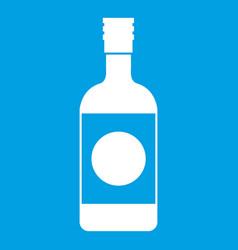 Japanese sake icon white vector