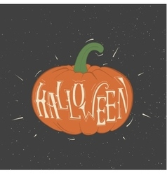orange pumpkin for Halloween vector image