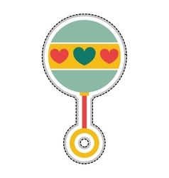 Rattle baby toy icon image vector