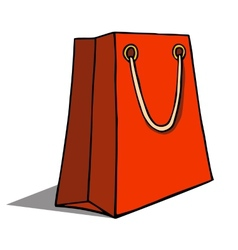 Red shopping bag on white vector