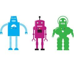 Retro Robots vector image vector image
