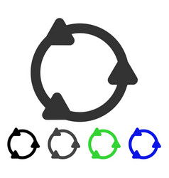 Rotate flat icon vector