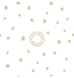 Seamless pattern with handmade logo vector