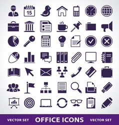 Simple office life icons vector image vector image