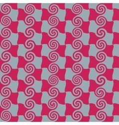Square and spiral red seamless pattern vector image