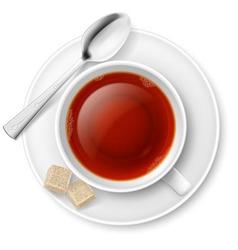 Tea drinking vector