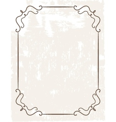 Vintage frame on beautiful background vector image