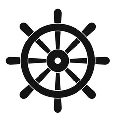 wooden ship wheel icon simple vector image vector image
