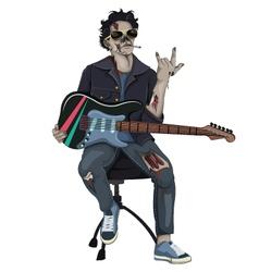 Zombie rocker vector
