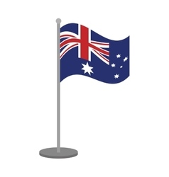 Australian flag pole steel icon vector