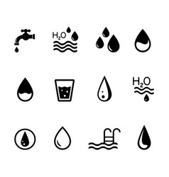 Concept icons on the theme of water vector