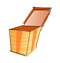A box is opend vector