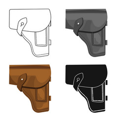 army handgun holster icon in cartoon style vector image