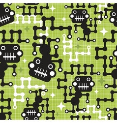 Robot monkey seamless pattern vector