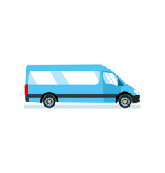 Car for transportation of passengers materials vector