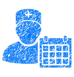 Doctor appointment grunge icon vector
