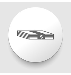 Stack of Money Icon vector image