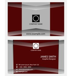 Abstract blue business card design templates vector