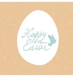 Grunge happy easter card design vector