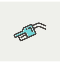 Gasoline pump nozzle thin line icon vector