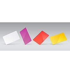 Blank presentation cards vector