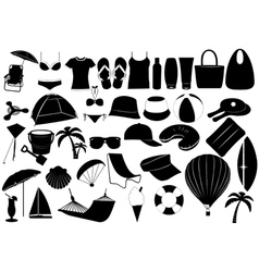 Of summer vacation objects vector