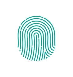 fingerprint Icon Image Flat fingerprint icon app vector image