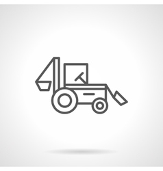 Backhoe loader black line icon vector