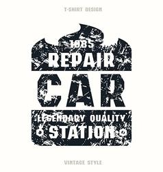 Car repair badge vector