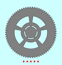 car wheel it is icon vector image