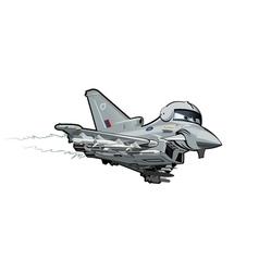 Cartoon fighter plane vector