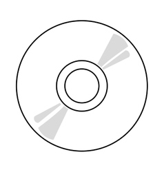 cd over white background vector image