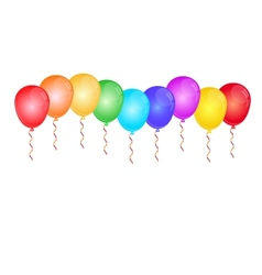 Color glossy balloons on white vector image vector image