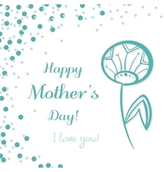 Dandelion Mothers Day vector image vector image