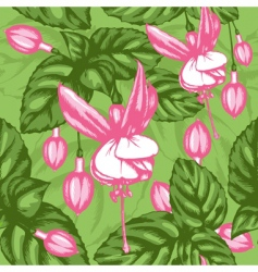 excellent seamless pattern with fuchsia vector image vector image