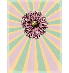floral motive vector image