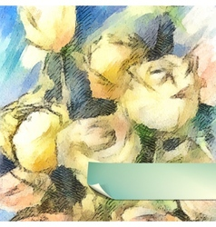 Flower Watercolor Roses vector image