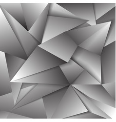 gray polygonal abstract triangular mosaic vector image vector image