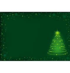 Green Christmas Spiral vector image vector image