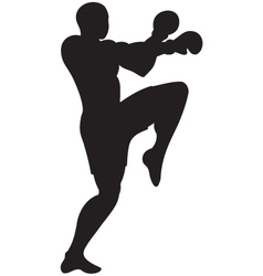 knee strike outline vector image vector image