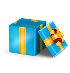 Open red gift vector