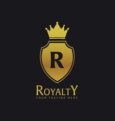 Royalty hotel luxury hotel logo and emblem vector