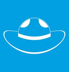 Sea hat icon white vector