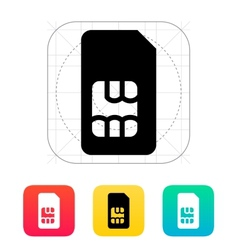 Standard SIM card icon vector image vector image